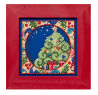 MILL HILL Counted Cross Stitch Beads Kit JIM SHORE Christmas Tree