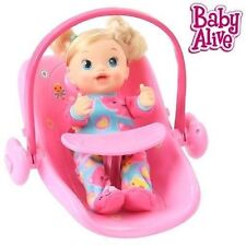 Baby Alive Doll 2-in-1 Deluxe Carrier and Car Seat (Pink) NIB