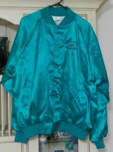 NAVAL AVIATION DEPOT JACKSONVILLE FLORIDA 1-SIDED SATIN JACKET COAT SIZE XL NAVY
