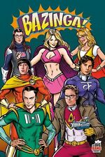 BIG BANG THEORY ~ SUPERHERO COSTUMES ~ 24x36 TV POSTER Jim Parsons Kaley Cuoco