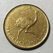Argentina 1 centavo, Ostrich bird, animal wildlife coin