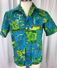 Reyn Spooner RARE 50s 60s Mod Retro Hawaiian Shirt ORIGINAL TAG Sz Large L Tiki