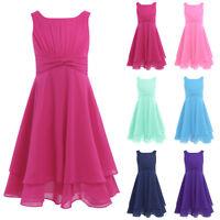 Madchen Prinzessin Kleid Hochzeit Blumenmadchen Kleider 104 116 128 140 152 164 Ebay