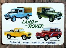 LAND ROVER 4x4 OFF ROADER DISCOVERY FREELANDER JEEP METAL PLAQUE TIN SIGN B127