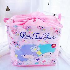 Little twin stars drawstring Storage Boxes Foldable Basket Clean bag manga gift