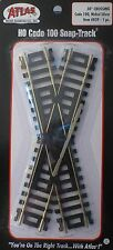 Atlas HO #839 Snap Track Crossing -- 30 Degrees, Nickel-Silver Rail, Black Ties