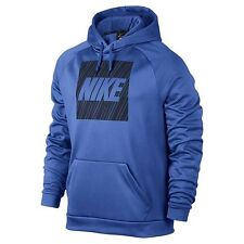 NWT Nike Blue/Navy Logo Polyester Therma Fit Hoodie - Men's Size Medium