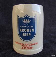 alte BIERKRUG  Krug Dortmunder Kronen Bier 1/4 Liter
