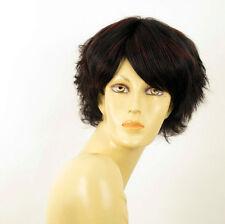 perruque femme 100% cheveux naturel courte méchée noir/rouge HELENE 1b410