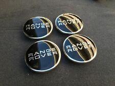 4pcs BLACK CHROME Wheel Center Caps 63mm Emblem Hubcap Cover fit for Range Rover