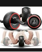 Ab Roller Exercise Training Wheel Body Gym Fitness Strength Abdominal Carver UK