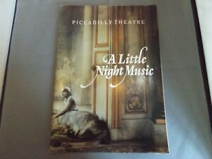 PICADILLY THEATRE PROGRAMME A LITTLE NIGHT MUSIC SIGNED TUTIN HAMPSHIRE KEDROVA