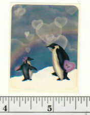 Small Vintage Acard Stickermania Penguins in Love Glossy Sticker