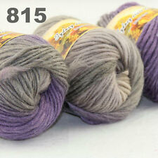 LOT of 3x50gr Skeins NEW Chunky Hand-woven Colors Knitting Scores wool yarn 815