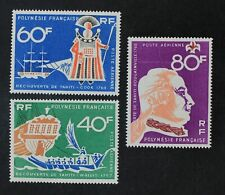 CKStamps: France Stamps Collection French Polynesia Scott#C45-C47 Mint H OG