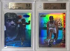 Vince Carter 1998-99 Flair Legacy Collection Row 3 & Finest Refractor RC BGS 9.5