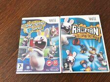 Lot jeux Nintendo wii rayman lapins cretins