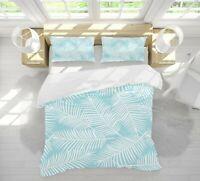 3D White Leaves ZHUA892 Bed Pillowcases Quilt Duvet Cover Set Queen King Zoe