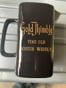 VINTAGE GOLD THIMBLE FINE OLD SCOTCH WHISKEY JUG BY WADE REGICOR LONDON
