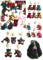 SEQUIN Keychain Keyring Handbag Bag Charm Girls Xmas Stocking Party Bag Filler