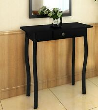 Black Console Table Entryway Dressing Furniture French Style Wooden High Gloss
