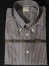 NWT 1818 Regent BROOKS BROTHERS Non Iron Gray Striped L/S Dress SHIRT L NIP $92