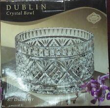 """Shannon Crystal Dublin Godinger Crystal Bowl 8 1/2"""" Diameter"""