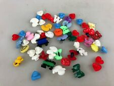 APPROX. 50 LITTLE CUTE BUTTONS - VARIETY OF SHAPES AND COLOURS - HEARTS, BOWS +