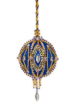 The Cracker Box Inc Christmas Ornament Kit Gypsy Fire on Royal w/ gold accents