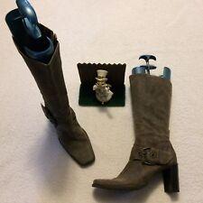 Womens RUFF HEWN Bryce  Knee High Boots Size 9 M Gray Minimal Wear