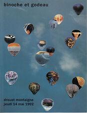 SCULPTURES MONTGOLFIERES - Catalogue de ventes aux enchères 14 mai 1992. Liste..