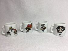 CN Cartoon Network Power Puff Girls Mini Ceramic Mugs Set Of 4
