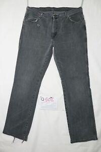 Wrangler Alaska Stretch D'Occassion (Cod.Q504) W40 L34 en Jeans Droit Noir