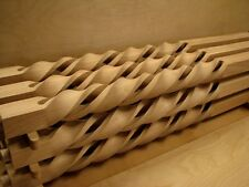 Wood Stair Square Spiral Bent Spindles spindle Balusters - Modern unique style