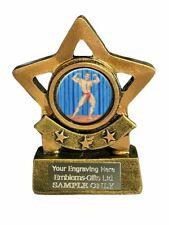 Body Building Muscle Man Mini Star 8cm Sports Award Trophy (B) ENGRAVED FREE