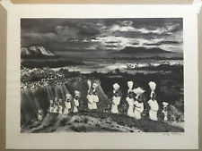 """Original Lithograph  By ADOLF DEHN- """"CARIBBEAN PROCESSIONAL"""" Published By AAA"""