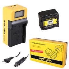 Batteria Patona + caricabatteria Synchron LCD USB per Panasonic HDC-TM700