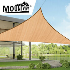 Mountview Sun Shade Sail Cloth Triangle Canopy Outdoor Awning Cover Sand 5x5x5m