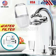 US Faucet Water Purifier Filter For Kitchen Sink Mount Filtration Tap Cleanable