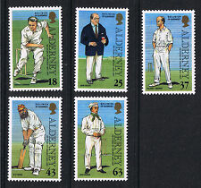 Alderney - Guernsey Mint Stamps '150 Years of Cricket' 1997  SGA96 to SGA100