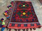 Hand Woven Made Vintage Afghan Salt Bag / Pillow Cover Area Rug 3 x 2 (22090)
