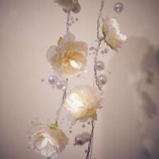My Light 6' LED String Light Garland White Pearls & Roses Weddings Holidays