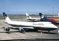 BRITISH AIRWAYS BOEING 747 236B A3 COLOUR POSTER PRINT PICTURE PHOTO IMAGE