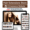 Hair Extensions Store Amazon Affiliate Dropshipping Website with 1000 Products