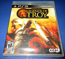 Warriors Legends Of Troy Sony PlayStation 3 (PS3) Factory Sealed! Free Shipping!