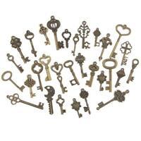 120 Set Old Lock Keys Vintage Style Antique Skeleton Furniture Cabinet Necklace