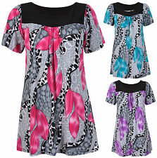 Short Sleeve Tunic, Kaftan Floral Tops & Shirts for Women