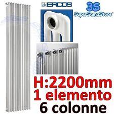 3S CALORIFERO RADIATORE TUBOLARE ACCIAIO 6 COLONNE H 2200 mm / 220 cm 1 ELEMENTO