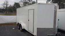 New 7x16 + V Nose Enclosed Trailer UTV RZR 4 WHEELER RANGER ATV
