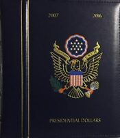 """DELUXE PRESIDENTIAL DOLLARS """"P & D"""" (2007-2016) LIGHTHOUSE ALBUM AND CASE - NEW"""